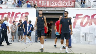 Ernesto Valverde makes his Barça debut in the team's first preseason match of the season