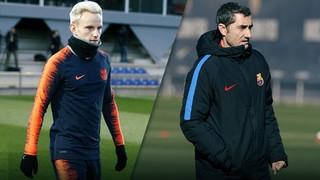 Sigue en directo la rueda de prensa de Ernesto Valverde y Ivan Rakitic, así como los primeros 15 minutos del entrenamiento que se llevará a cabo en el estadio de Stamford Bridge.