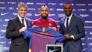 Arturo Vidal: 'I will work hard to bring joy to the Barça fans'