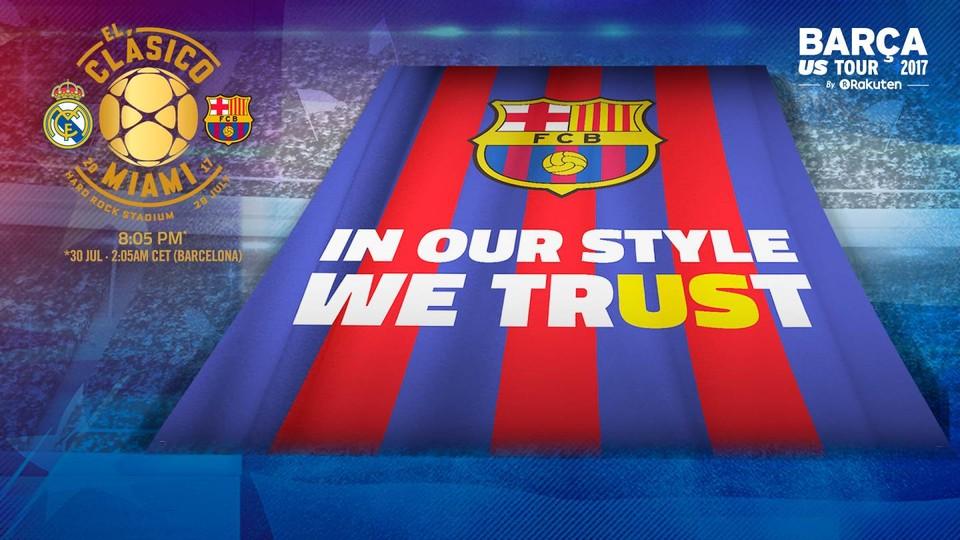 Tifo FC Barcelona Clasico Miami