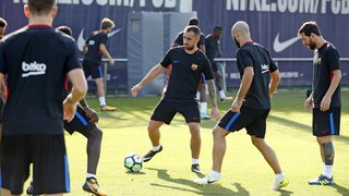 Players trained in preparation for next La Liga fixture