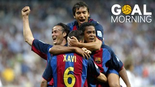 Goal Morning! Xavi Hernàndez also knows the feeling of scoring at the Bernabéu