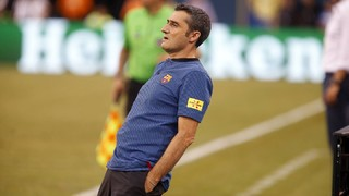 The new Barça manager spent almost the whole ninety minutes against Juventus on his feet - and our cameras caught all of his reactions!