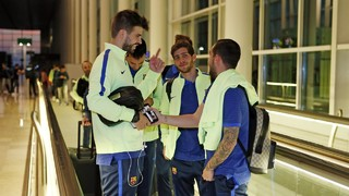 Team arrives in Madrid