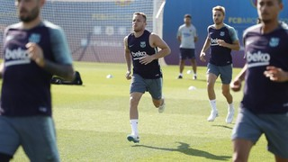 After morning and evening sessions on Monday, the players are only training on Tuesday morning, but will be back to double workouts on Wednesday