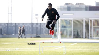 Dembélé continues his recovery from injury