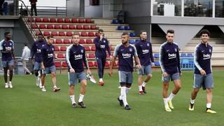 Nueva sesión, bajo la lluvia, pensando en la SD Huesca