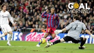 Goal Morning! Today we remember one of Ronaldinho's best goals with Barça...