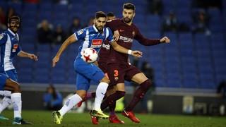 Les joueurs ont souligné la maîtrise du match de la part du FC Barcelone mais la réussite était du côté de l'Espanyol lors de ce quart de finale aller de Coupe du Roi au RCDE Stadium (1-0)