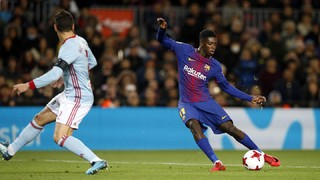 Dembélé wins Camp Nou fans' hearts