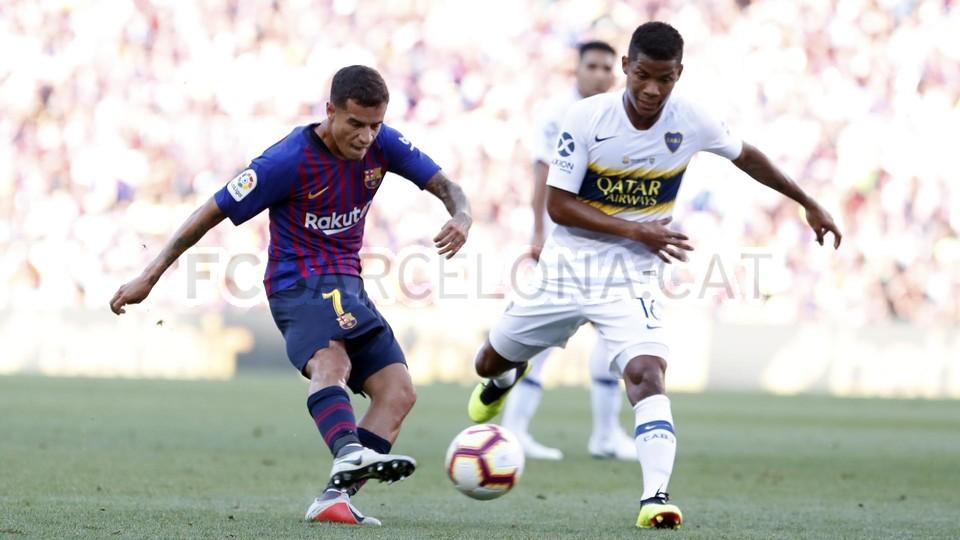 صور مباراة : برشلونة - بوكا جونيورز ( 16-08-2018 )  95974340