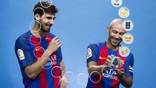 Barça emojis: Mascherano & André Gomes