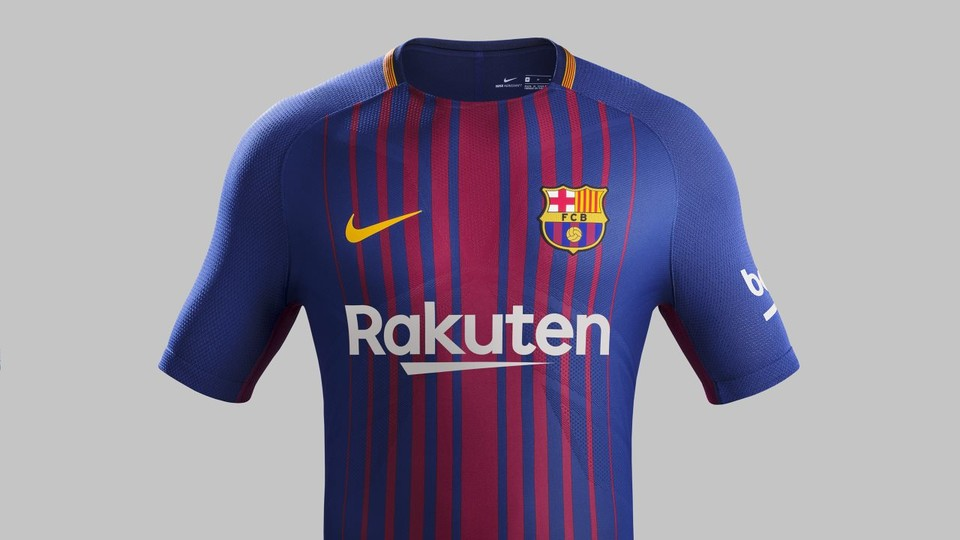 The new FC Barcelona kit is finally here. For the first time the shirt will  bear the name of Japanese company Rakuten, the Club's new global sponsor  from 1 ...