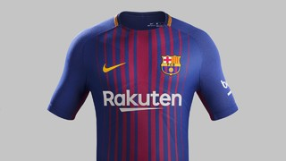 Rakuten, the new sponsor from 1 July, will appear for the first time on the front of the shirt which will go on sale on 1 June