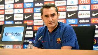 El técnico del primer equipo del FC Barcelona, en la previa del partido de ida contra el Murcia, comenta que habrá rotaciones pero asegura que el objetivo es el mismo de siempre, que es seguir adelante para defender el título