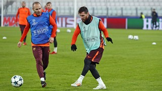 Barça's training session at Juventus Stadium