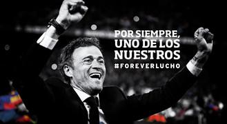 Reconocimiento a Luis Enrique en el Camp Nou
