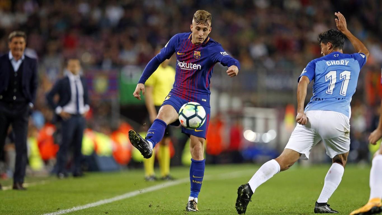 El extremo de Riudarenes anotó ante el Málaga su primera diana con el primer equipo azulgrana en partido oficial. A continuación, repasamos todos los datos que nos deja el duelo ante los malagueños