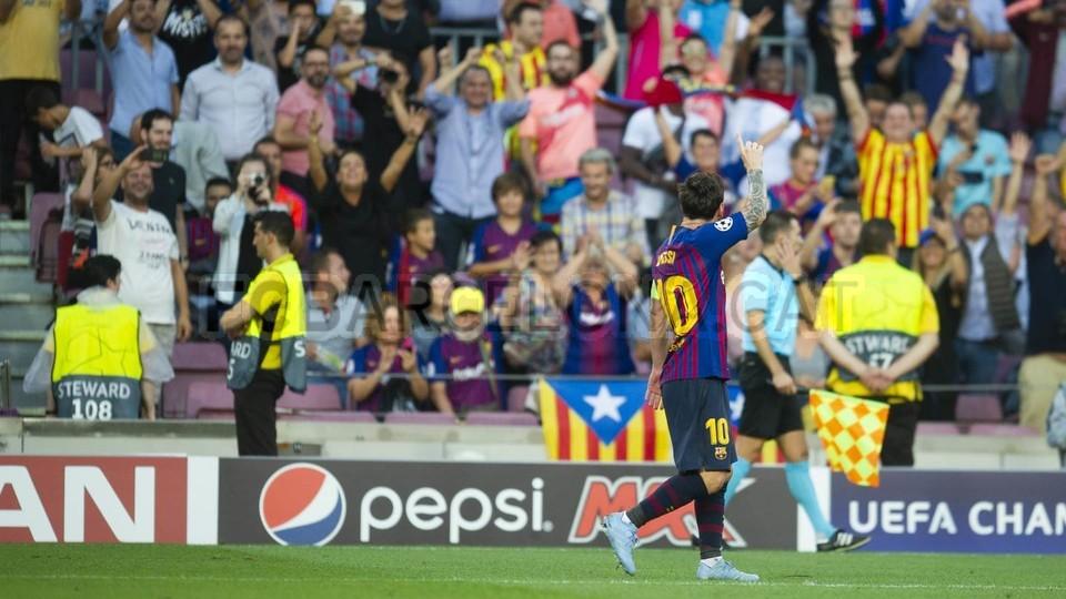 صور مباراة : برشلونة - PSV إندهوفن 4-0 ( 18-09-2018 )  98884296