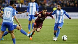 Màlaga 0 - FC Barcelona 2 (3 minuts)