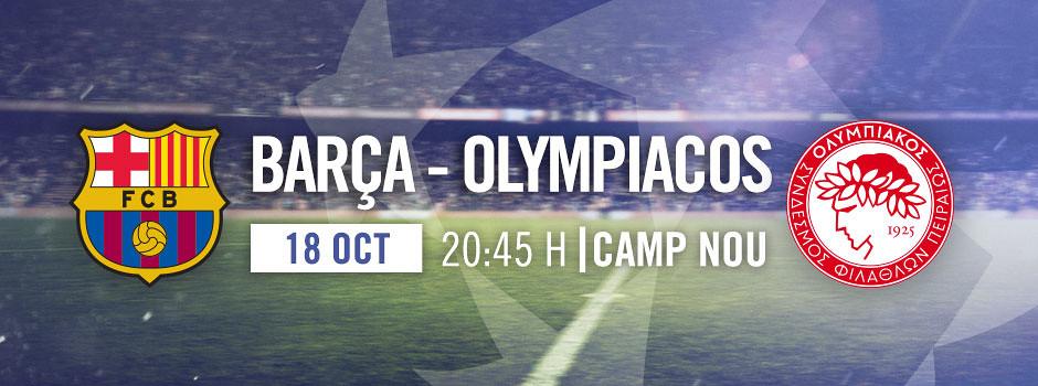 Entrades Barça VS Olympiacos 2017-18