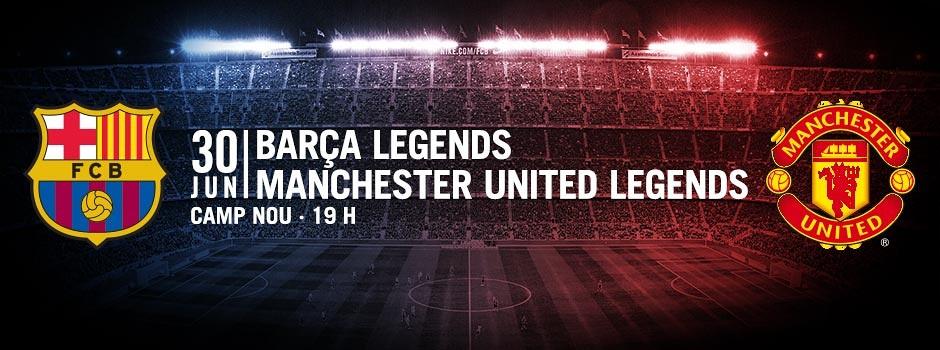 Entradas partido de las leyendas entre el FCB y el Manchester United