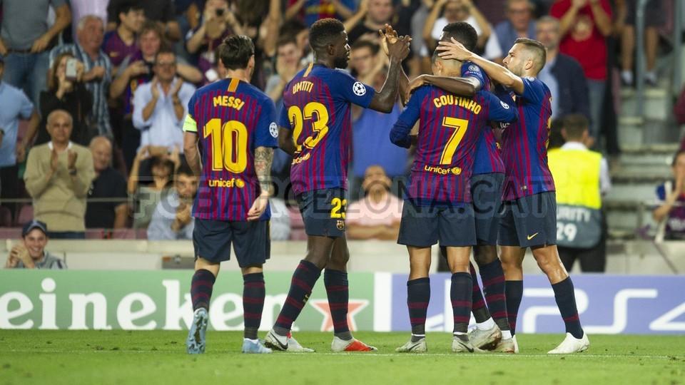 صور مباراة : برشلونة - PSV إندهوفن 4-0 ( 18-09-2018 )  98901706
