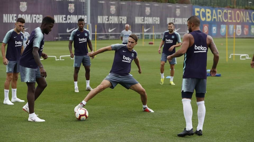 Segunda sesión de la semana para preparar la salida de Liga en Anoeta