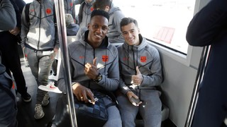 The Barça squad's trip to Valencia