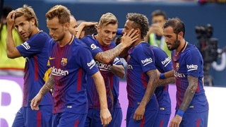 All the top action from the preseason opener at the MetLife Stadium, including two pieces of goalscoring magic from Brazilian ace Neymar Jr