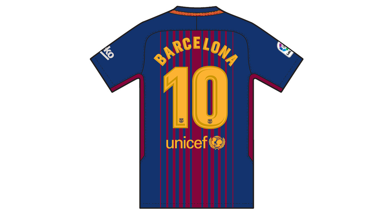 The hashtag #TotsSomBarcelona will be displayed on the front of the shirt, in homage to the victims of the terrorist attacks in Barcelona and Cambrils