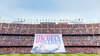 Camp Nou tribute to Luis Enrique