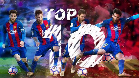 Leo Messi's top ten strikes of the season