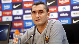 The Barça manager appeared before the media ahead of Sunday's Catalan derby at Camp Nou
