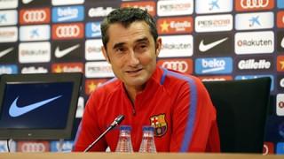 """Valverde: """"Hem de tenir cura de l'ambient festiu del derbi"""""""
