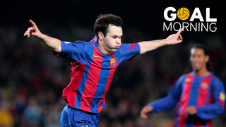 Goal Morning! Magic Andrés Iniesta!