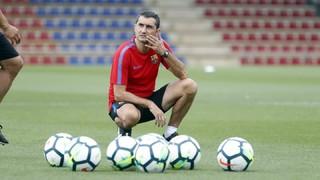 La primera lliçó de Valverde a la Ciutat Esportiva