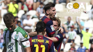 Goal Morning! Magnificent pass from Leo Messi and unstoppable finish from Ivan Rakitic