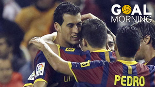 GOAL MORNING! One of the best Sergio Busquets goals for Barça