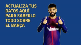 ¡Actualiza tus datos para saberlo todo sobre el Barça!