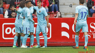 Sporting Gijón – Barça B: Victory of prestige and hope (2-3)