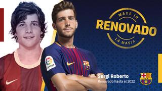 Acuerdo para la renovación del contrato de Sergi Roberto hasta 2022