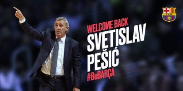 Svetislav Pesic will coach Barça Lassa until the end of the season