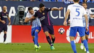 Málaga 2 -  FC Barcelona 0 (1 minute)