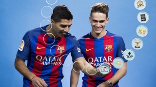 Barça emojis: Luis Suárez & Denis Suárez