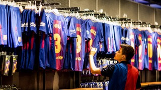 One fan makes his annual trip to the FCB Shop to pick up the new shir