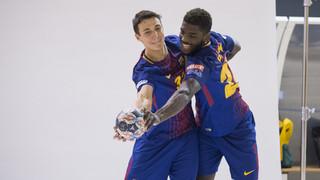 Així s'ha fet la sessió de fotos el Barça Lassa