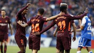 Deportivo 2 - FC Barcelona 4 (1 minuto)