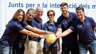 "The Cruyff Foundation, the FC Barcelona Foundation and the Fundació Bancària ""la Caixa"" present a new sporting facility in Sant Guim de Freixenet with the Barça defender as an ambassador"