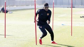 El jugador azulgrana sigue recuperándose en la Ciudad Deportiva Joan Gamper de su lesión en el tendón del bíceps femoral del muslo izquierdo el pasado mes de septiembre